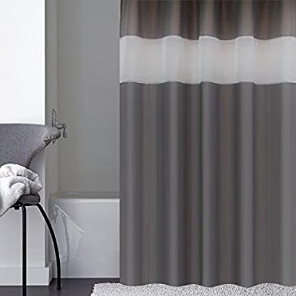 Amazon.com: UFRIDAY Dark Gray Shower Curtain Extra Long 72-Inch x 78 ...
