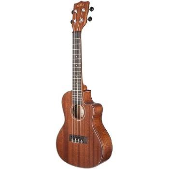 kala ka smhce c solid mahogany concert cutaway acoustic electric ukulele musical. Black Bedroom Furniture Sets. Home Design Ideas