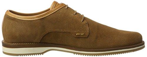 NOBRAND Ice, Zapatos de Cordones Derby para Hombre marrón (Cognac Suede)