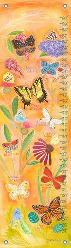 Oopsy Daisy Exotic Butterflies by Donna Ingemanson Growth Charts, 12 by 42-Inch by Oopsy Daisy