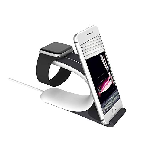 Watch Stand, 2 in 1 Universal Desktop Cellphone Stand and Watch Stand, ABS Watch Phone Tablet Charging Station Stand Dock