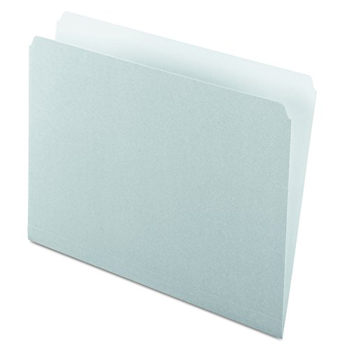 Pendaflex 152GRA Colored File Folders, Straight Cut, Top Tab, Letter, Gray/Light Gray (Box of 100)