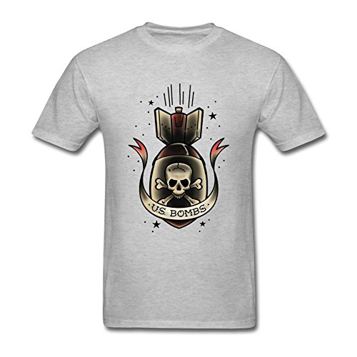 Tommery Men's U.S. Bombs Short Cotton T - Card Myer Discount Gift