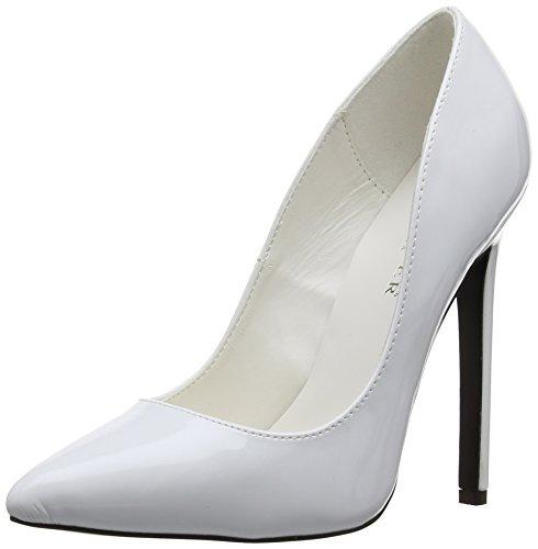 White Bianco donna tacco W SEXY Pat Scarpe col 20 EU Wei SEXY20 Pleaser wxzPUnqRp1