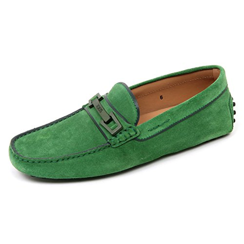 D0362 mocassino uomo TODS scarpa macro clamp country verde loafer shoe man Verde