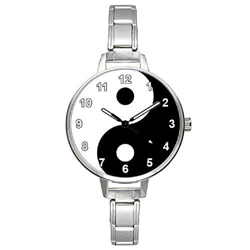Timest - Ying & Yang - Womens Stainless Steel Italian Charms Bracelet Watch BM0874