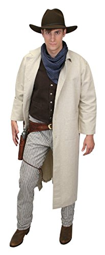 Historical Emporium Men's Classic Cotton Duster L Natural ()