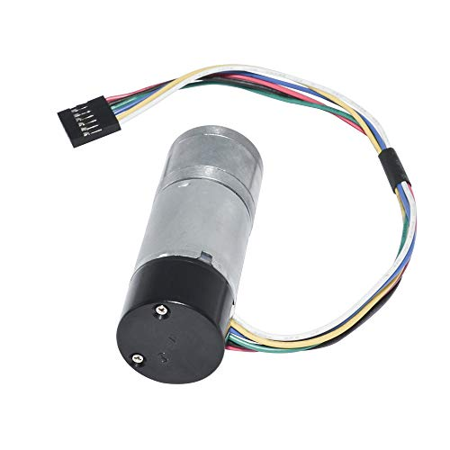 Encoder Metal Gear Motor DC 12-24V 10~600RPM with Dual Channel Encoder for Robot