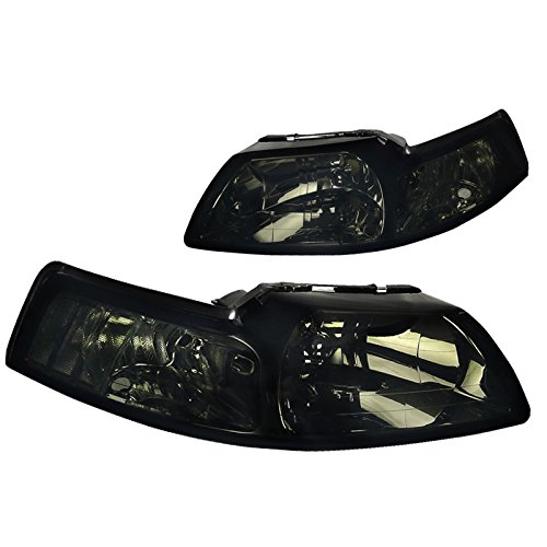 Ford Mustang Smoke Lens Front Driving Headlights Tinted Head Lamps Left+Right