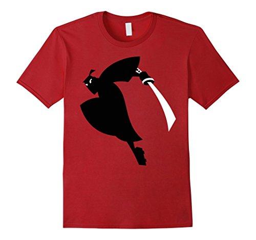 Mens Cn Samurai Jack Leaping Sword Silhouette Graphic T Shirt 2Xl Cranberry