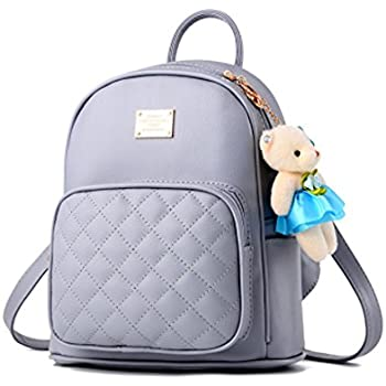 Amazon.com: Girls Bowknot Cute Leather Backpack Mini
