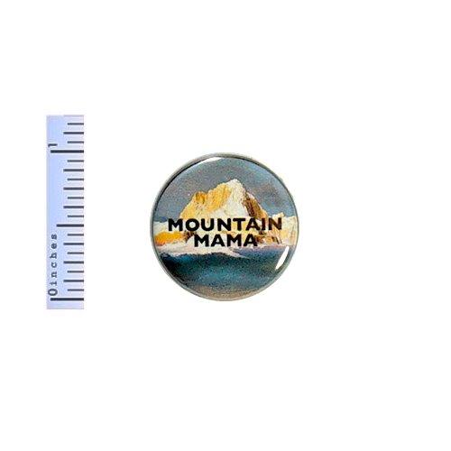 Button Mama - Mountain Mama Button Outdoorsy Mom Hiking Ocean Beach Hike Camping Gift Pin 1
