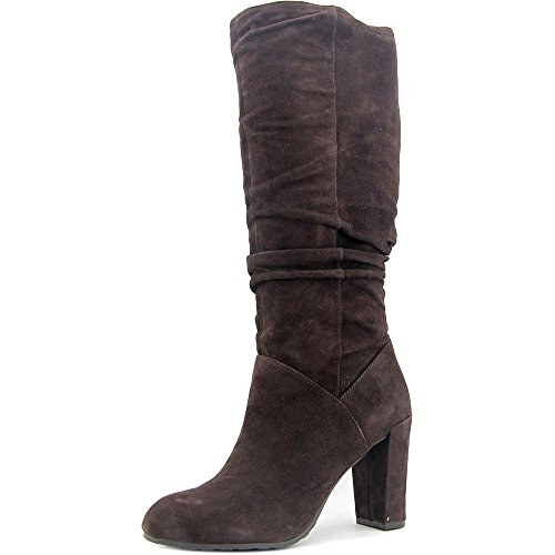 Nine West Women's Shirly Suede Slouch Boot, Brown, 8.5 M US