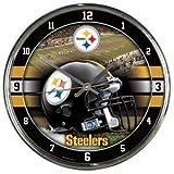 Pittsburgh Steelers Round Chrome Wall Clock