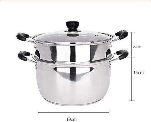 cuiseur vapeur avec acier inoxydable 304, facile à utiliser et à nettoyer Multi-usage anti-brûlure, le meilleur cadeau pour les amateurs de cuisine