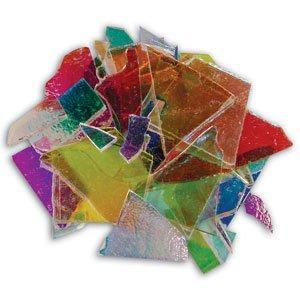 Dichoric Glass - 1/4 Lb Dichromagic Scrap On Clear - 90 Coe