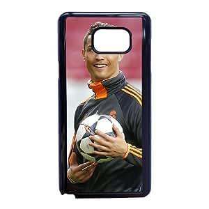 Cristiano Ronaldo Funda Samsung Galaxy Note 5 Funda Caja del teléfono celular Negro E2C1FC