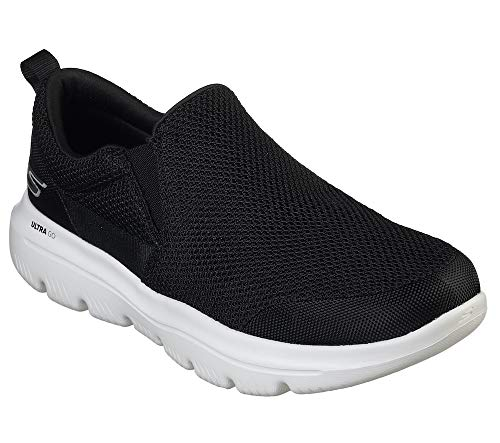 Skechers Men's GO Walk Evolution Ultra-Impeccable Sneaker, Black/White, 9.5 M US