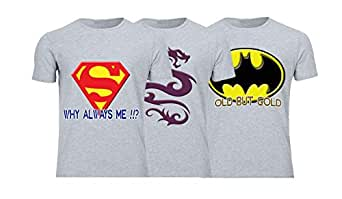 Geek ET1787 Set Of 3 T-Shirt For Men-Grey, 2 Xlarge