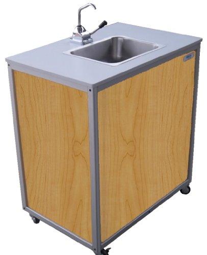 Monsam PSE-2008 Maple Single Basin Hand Pump Sink, 27