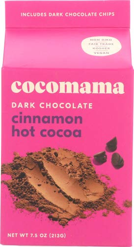 Cocomama Cocoa Mix, Dark Chocolate Cinnamon 7.5 OZ (Pack of 12)