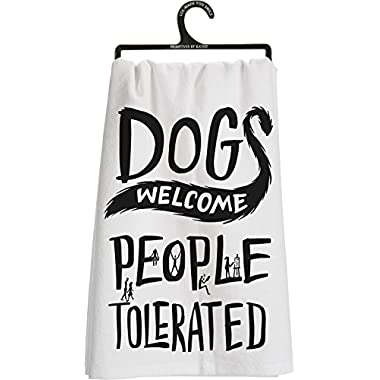 Primtives By Kathy Dish Towel Dogs Welcome, People Tolerated