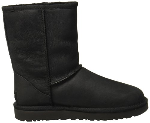 Ugg Australia Womens Classic Short Leather Boots Black