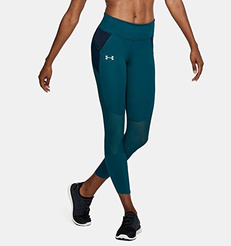 Under Speedpocket Donna Teal Leggings Verde tourmaline Run Armour Crop r7wxaAr