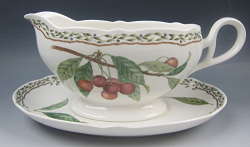 Noritake China Gravy Boat - Noritake China ROYAL ORCHARD Gravy Boat & Unattached Underplate EXCELLENT