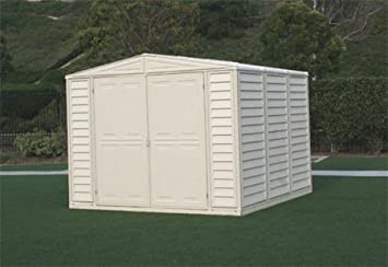 duramax duramate 8x8 vinyl storage shed w foundation kit - Garden Sheds Vinyl