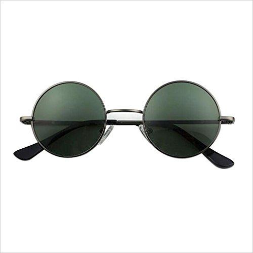 Vendimia La QZ del la de Gafas Color Puede Redondo de Circulares de equipar Las la Gafas la polarizada de Marco 4 Pequeña Sol de Miopía 1 Unidad HOME luz se 00Aqrw8