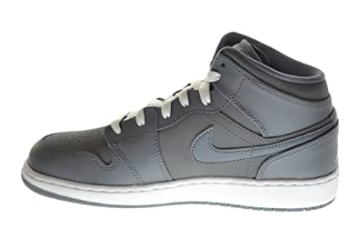 sale retailer 220ed d19d9 Amazon.com  Jordan Air 1 Mid (BG) Big Kids Basketball Shoes Cool Grey White-Cool  Grey 554725-014 (5 M US)  Shoes