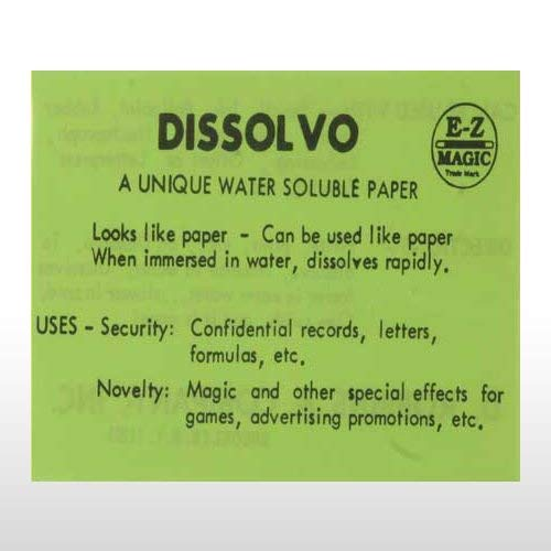 Dissolvo - Spy Paper ()