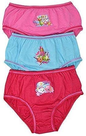 Girls Kids Characters 100/% Cotton Briefs Underwear Slips Knickers 3 Pack