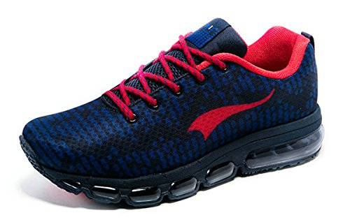 Solo 360 Mens Suits (Onemix Men's Air Cushion Running Shoes Dark Blue Red Size 7)