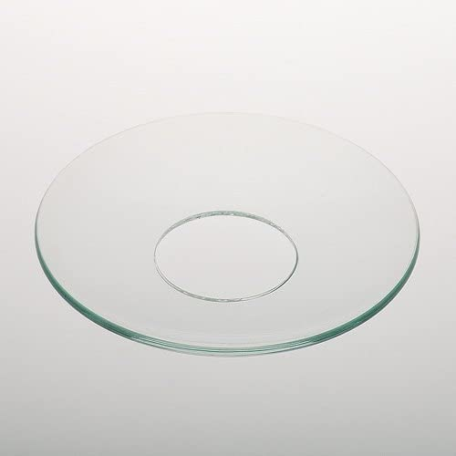 Glas Tropfschale mit Silber Rand Tropfschutz Kerzen-Manschette Tropfenfänger