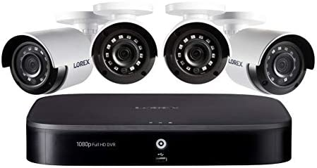 Lorex 1080p Weatherproof Indoor Outdoor Wired Home Surveillance Security System