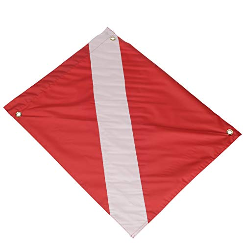Seachoice 78231 Vinyl Diver Down Flag with Removable Stiffener - 20 x 24 Inch - Warn Boaters When Diving