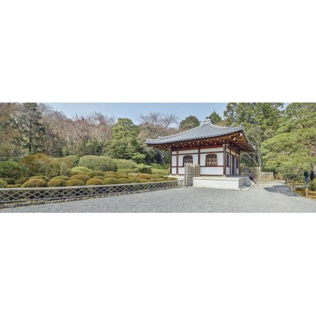 School building in Ryoan-ji Temple Complex Kyoto Kyoto Prefecture Japan Canvas Art - Panoramic Images (27 x 9) ()