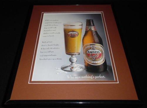 1993-amstel-light-framed-11x14-original-vintage-advertisement