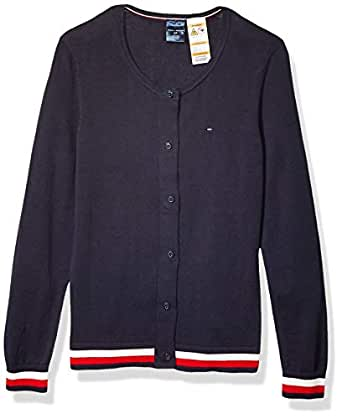 TOMMY HILFIGER Adaptive Womens 7699346 Cardigan with Magnetic Buttons Sweater - Blue - X-Small