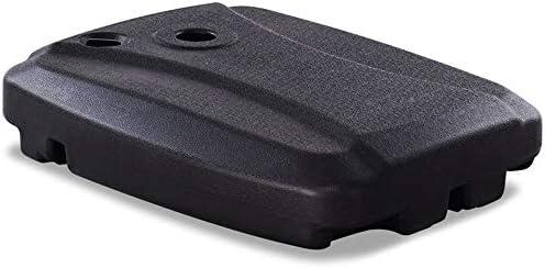 オフセットパティオ傘ベースホルダーホイールフィラブルウォーターサンド60 L大容量-ポータブルスタンドアクセサリー-屋外ガーデンバルコニーに最適