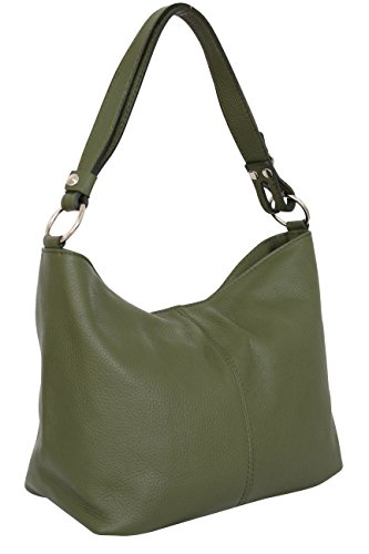 Gl005 Bolso Cruzada Ejército De Moda La Hombro De Cuero Bolsa Verde Vagabundo Cuerpo Ambra Mujer Con 6UFwSIIq
