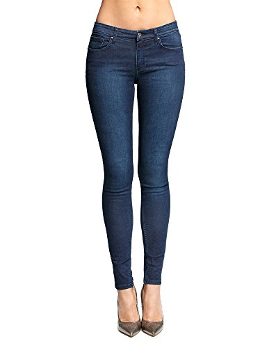 Conte elegant Women's Shaping Skinny Denim Jeans, Dark Blue