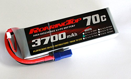 RoaringTop LiPo Battery Pack 70C 3700mAh 3S 11.1V with EC5 Plug for RC Car Boat Truck Heli Airplane ()