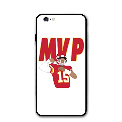 Slim Fit iPhone 6/6S Silicone Case, Kansas City Mahomes MVP Shock-Absorption Anti-Scratch Bumper Cover Dustproof Full Body Drop Protection Cover for Apple iPhone 6/6s