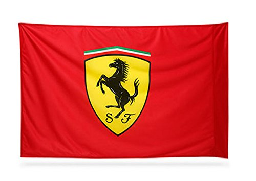 Scuderia Ferrari F1 (Ferrari Red Fan Flag with NO Pole Sporting the Scuderia Ferrari Logo)