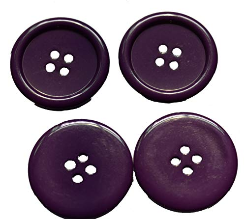 Lyracces Wholesale Lots 7pcs Extra Large Big Sewing Fasteners Flatback Resin Buttons 50mm 1.97 Inches - Sewing Wholesale Buttons