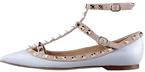 Calaier Mujer Cahouse Plataforma 0CM Sintético Hebilla Sandalias de vestir Zapatos Azul