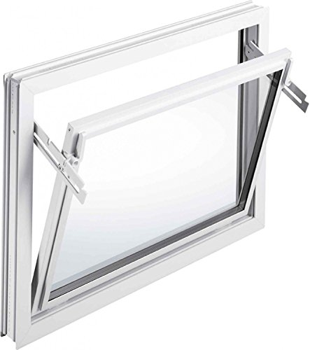 Kellerfenster Kippfenster Mealon Iso-Glas weiß Breite 60 cm untersch. Höhen, Größe Kippfenster:60 x 40 cm